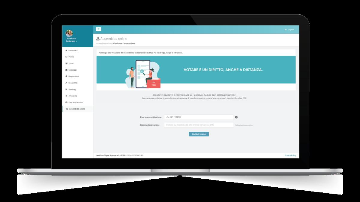 L'assemblea di condominio di fa online con il tool di Laserwall